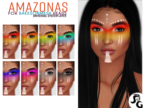 ::SG::Amazonas Head Makeup System UNIVERSAL LAYER for BOM heads