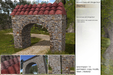 Sway's [Remo] Brick Archway with Shingle Roof