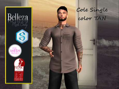 TA COLE SHIRT TAN