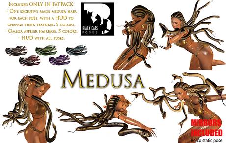 Black Cats poses - Medusa FATPACK + mirrors