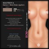 """DREAM INK """"Maitreya Mesh Body Lara Appliers OPTION1"""" V-Vampire   BOM"""