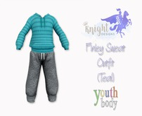 [KNIGHT DESIGNS] FINLEY SWEAT OUTFIT (TEAL) - YOUTH