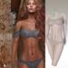 Glitter Gillian Fitmesh Bikini White