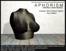 !APHORISM! - Carolyn Bikini Top 2 Black