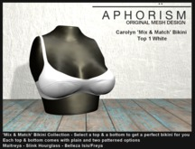 !APHORISM! - Carolyn Bikini Top 1 White