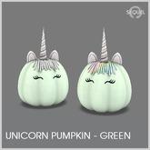 Sequel - Unicorn Pumpkin - Green - Halloween Decoration