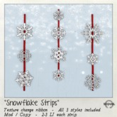 Sequel - Snowflake Strips - Christmas Decorations
