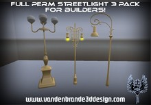 FULL PERM Streetlight 3 pack For Creators WITH Sculpt Maps!