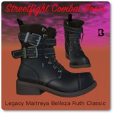 Streetfight Fashions Combat Boots Fit Mesh Black
