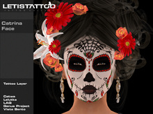 Letis Tattoo :: Catrina Face :: FC19014 :: WearMeToUnpack