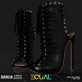 EQUAL - Dahlia Ankle Boots BLACK