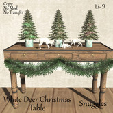 White Deer Christmas Table By Snuggles