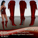 *Milady's* -Contradiction- High Heel Red Boots