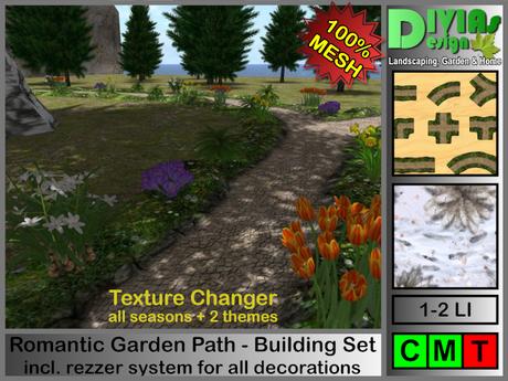 Romantic Garden Path - Building Set