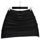 Ec.cloth - Button Set Mini Skirt - Black (add it)