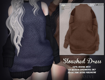 [ abrasive ] Slouched Dress - Brown