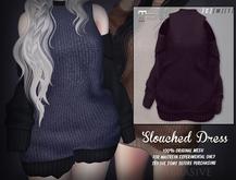 [ abrasive ] Slouched Dress - Plum