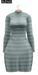 Bueno fly dress mint stripe
