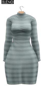 BUENO-Fly Dress-Mint Stripe
