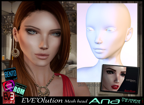 "*!* EVE'olution Head mesh ""beta"" 50% OFF for beta time ""Update for life"""