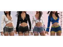 BRIELLE FEMALE TOP FATPACK- MESH - Maitreya Lara, Belleza Freya, Legacy - FashionNatic