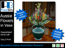 Beautiful Australian Flowers in Vase *Copy/Mod*