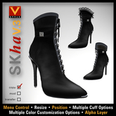 :: V Style SKha V.3 - Black :: Ankle Boots, Leather Boots, Stiletto Boots