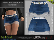 BRIELLE FEMALE SKIRT BLUE JEANS SINGLE VERSION - MESH - Maitreya Lara, Belleza Freya, Legacy - FashionNatic