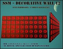 SSM - Decorative Wall 12