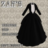 Zan's tailcoat tuxedress (50% Off)