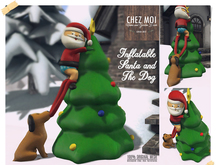 Inflatable Santa&Dog ♥ CHEZ MOI