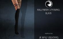 Halloween Stockings Black ADD ME (JR Wolf Creations)