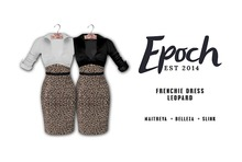 .EPOCH. frenchie dress. leopard.