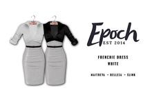 .EPOCH. frenchie dress.white.