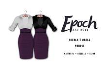 .EPOCH. frenchie dress. purple