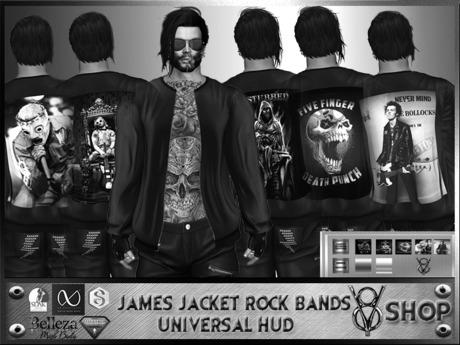+DEMO+V8 SHOP+ JAMES JACKET ROCK BANDS HUD 5 TEXTURES