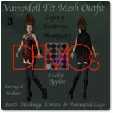 Vampdoll Boots Stockings Corseti & Cape DEMO