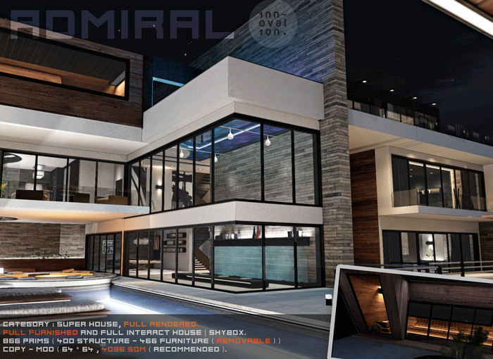 PRIMO - ADMIRAL - Contemporary HOUSE | SKYBOX full furnished and scripted.
