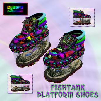 Fishtank Platform Shoes (Flower Power