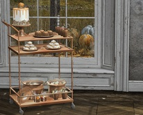 Aphrodite - Fall - Ciders & Bites cart  - Serving Cart alone