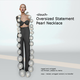 -slouch- Oversized Statement Pearls (add)