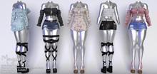 Mangula HUD [Unpack] Lila Set Blouse, Dress, Skirt [FATPACK]