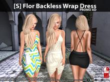 [S] Flor Backless Wrap Dress Demo