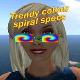 Trendige Farben Spiral Brillen