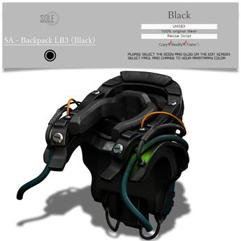 :::SOLE::: SA - Backpack LB3 (Black)