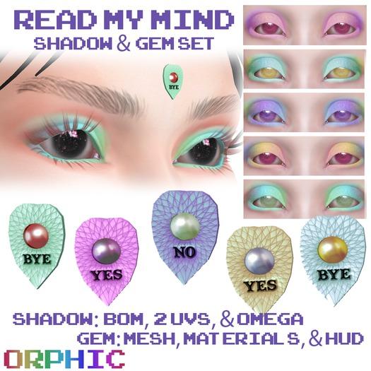 Orphic Read My Mind Pastel Shadow & Gem Set