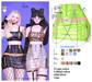 MIWAS / Dae Chain skirt #NeonGreen