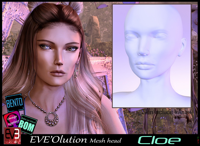 *!* EVE'Olution Cloe Mesh head BOM   - wear to unpack
