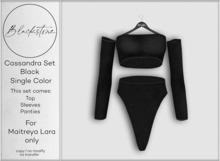 Blackstone - Cassandra Knit Set - Black