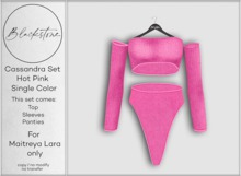 Blackstone - Cassandra Knit Set - Hot Pink